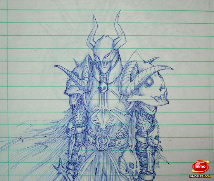《魔兽世界》外国粉丝圆珠笔下的精美原画简洁版