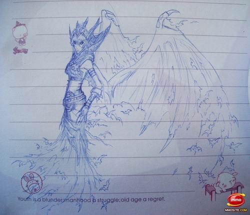 《魔兽世界》外国粉丝圆珠笔下的精美原画