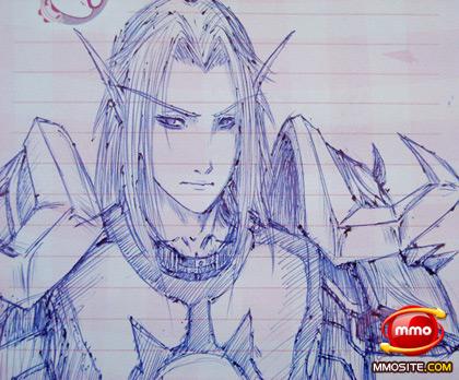 贴图:《魔兽世界》番邦粉丝圆珠笔下的精美原画|口-游戏专区 - 地主t