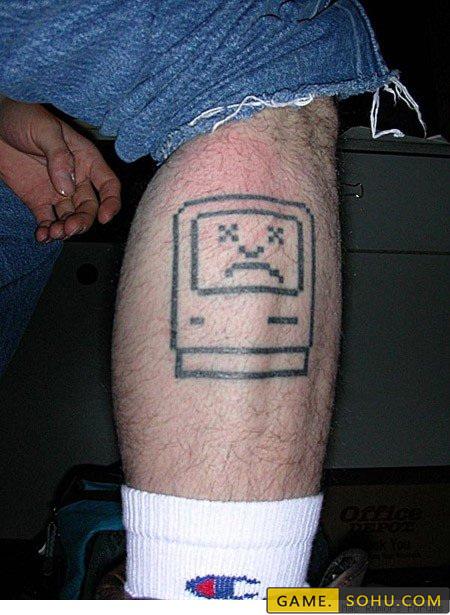 为游戏失身!老外最奇葩的游戏纹身大赏